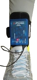 Data Logger for accurately recording data from weight sensing heel and forefoot pads