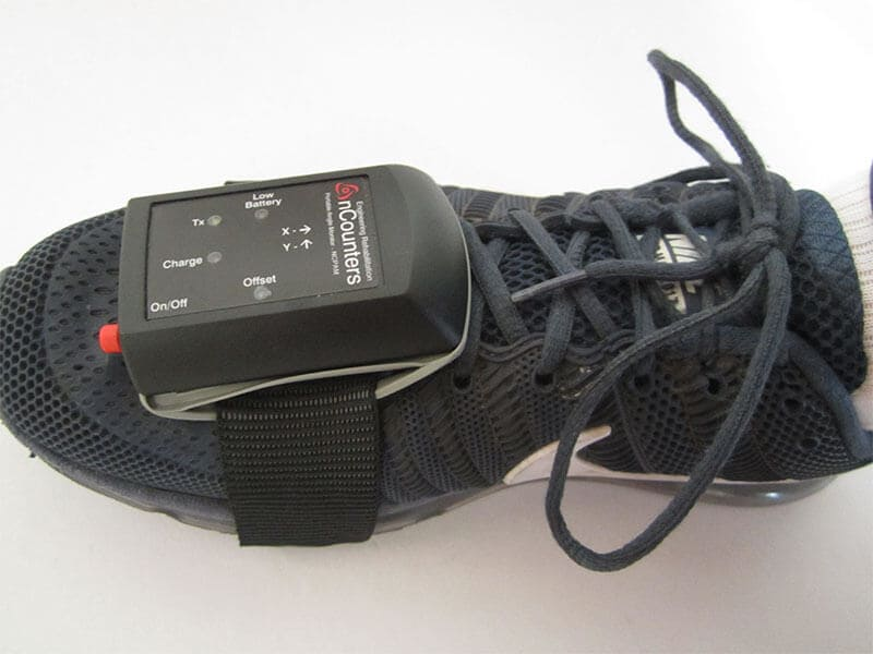 Portable Angle Monitor Sensor for foot; use with PLLM Touch biofeedback unit